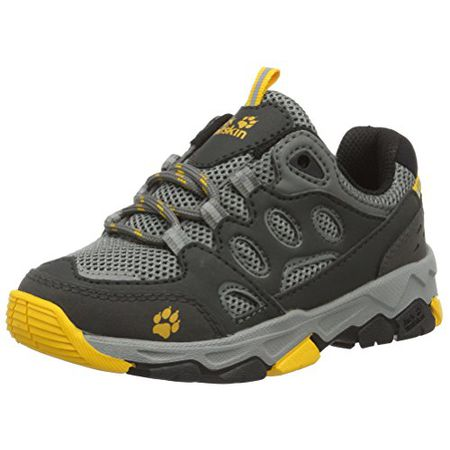 more photos 32d17 96e77 Jack Wolfskin Unisex-Kinder MTN Attack 2 Low K Trekking-& Wanderhalbschuhe,  Grau (Burly Yellow), 38 EU
