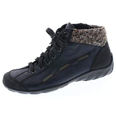 Rieker Damen L6543 Hohe Sneaker, Blau (SchwarzNavyTerra 00), 43 EU