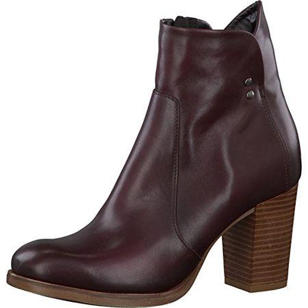 Tamaris Damenschuhe 1 1 25001 27 Damen Stiefeletten, Boots, Stiefel Rot (Bordeaux), EU 36