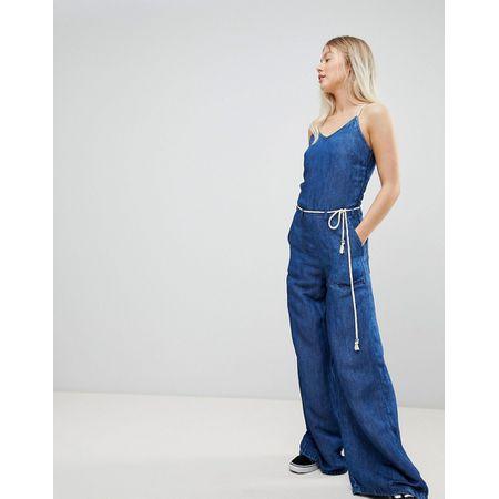 Pepe Jeans - Flyer - Jeans-Jumpsuit in Retro-Optik - Blau 1ca479a1ea