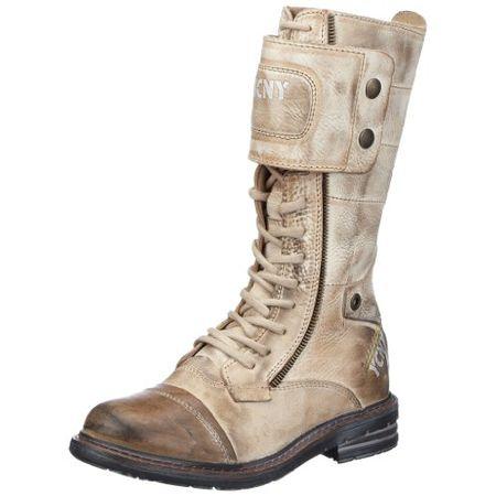Yellow Cab SOLDIER W, Damen Combat Boots, Grau (Taupe), 36 EU
