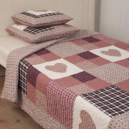 Tagesdecke Bettüberwurf Plaid Patchwork Kissen Kissenhülle Quilt Clayre /& Eef