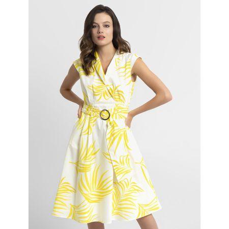 832a8a6c8752a8 APART Kleid creme / gelb