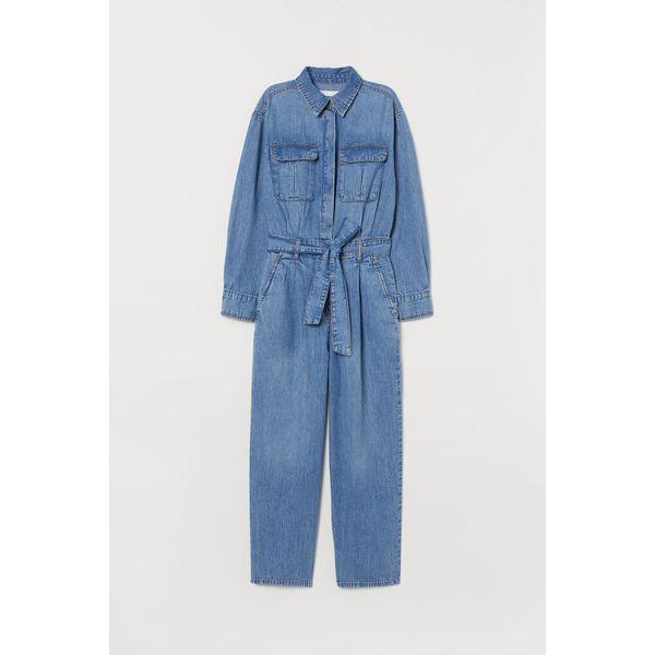 H & M - Jumpsuit aus Denim - Blue - Damen