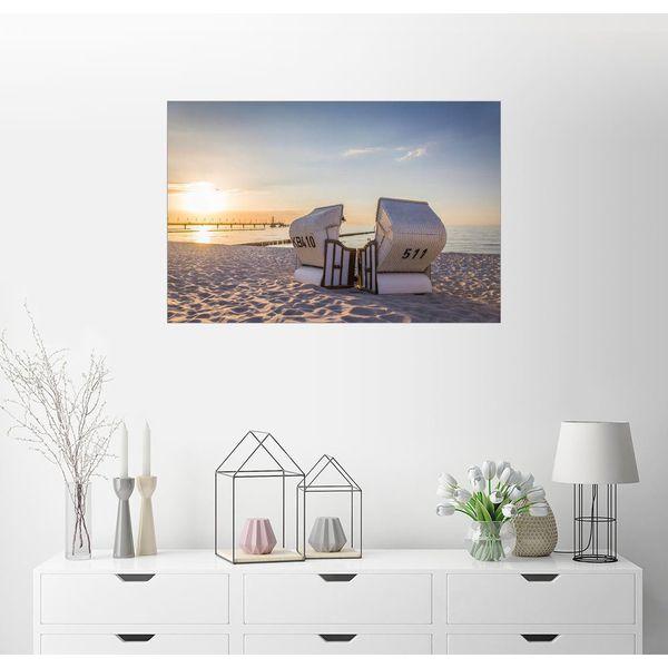 Posterlounge Wandbild - Christian Müringer »Strandkorb Idylle an der Ostsee«