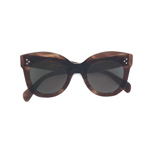 Céline Eyewear Oversized-Sonnenbrille mit runden Gläsern - Braun