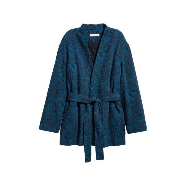 H & M - Jacquard-Kimono - Blue - Damen