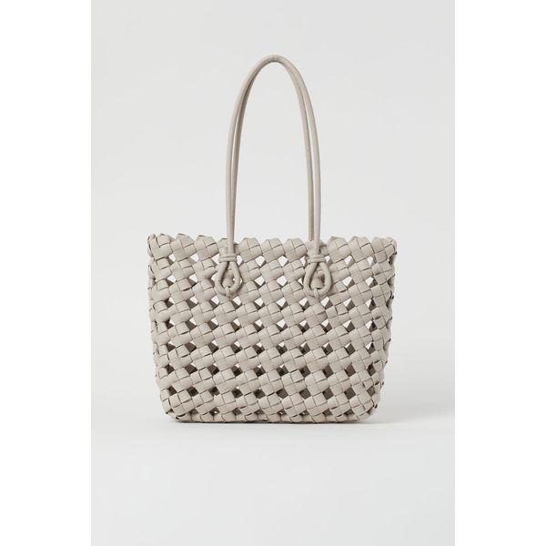 H & M - Geflochtener Shopper - Braun - Damen