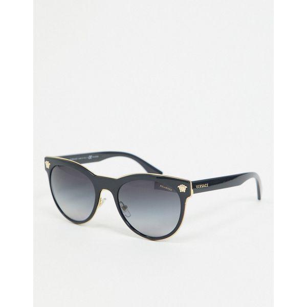 Versace – 0VE2198 – Runde Sonnenbrille-Schwarz