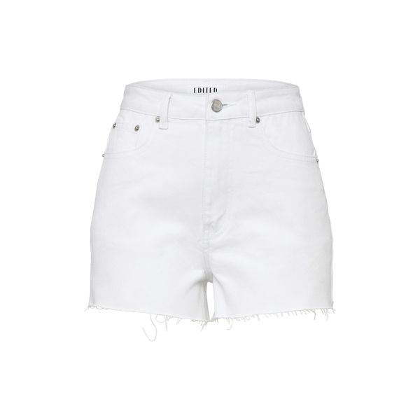 EDITED Shorts 'Selia' white denim