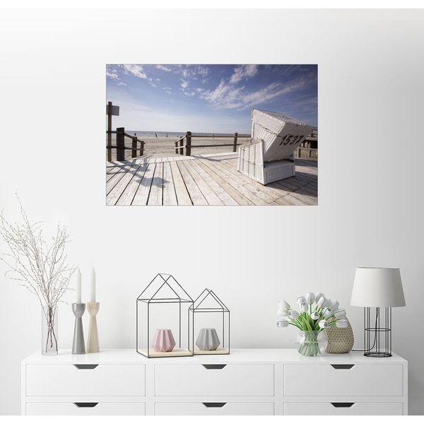 Posterlounge Wandbild - Dennis Stracke »Strandkorb Urlaub an der Nordseeküste«