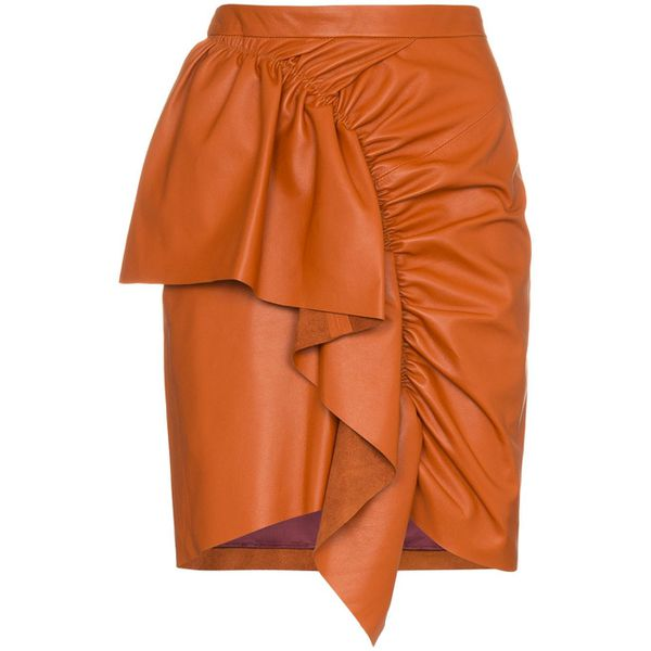 Isabel Marant Minirock aus Leder - Orange