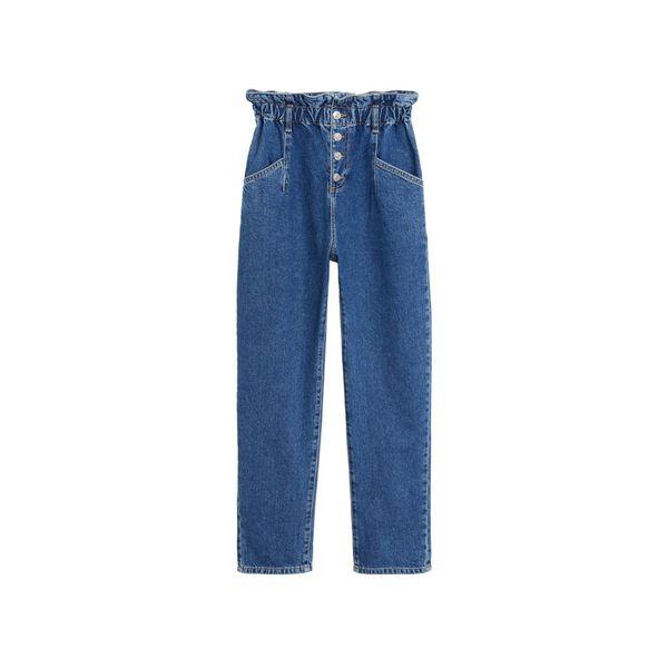 MANGO Jeans paperbag kobaltblau