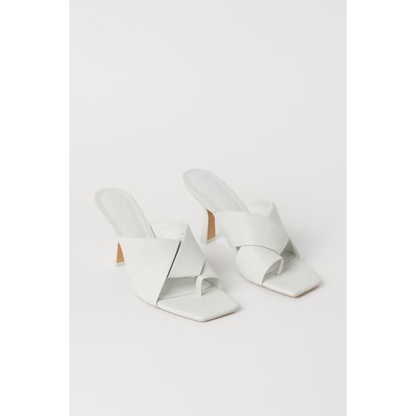 H & M - Pantoletten - Weiß - Damen