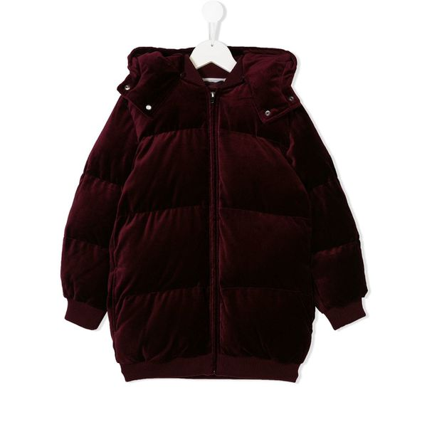 Stella Mccartney Kids hooded puffer jacket - Rot