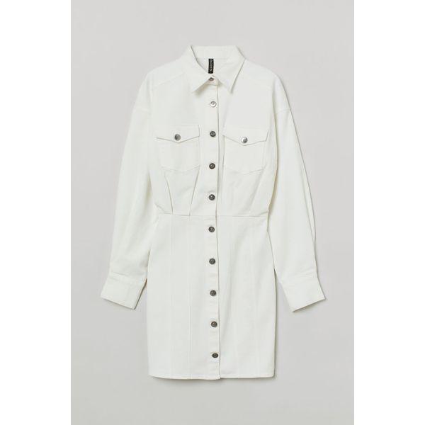 H & M - Jeanskleid - Weiß - Damen