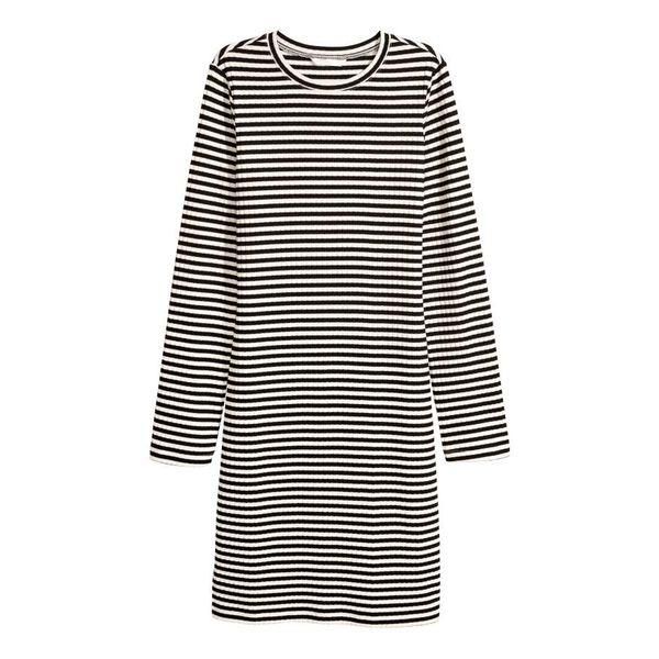H & M - Jerseykleid - Schwarz/WeiB gestreift - Damen