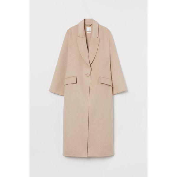 H & M - Oversized Mantel aus Wollmix - Beige - Damen