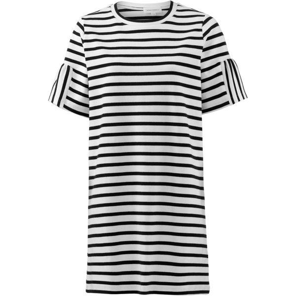 Armedangels Kleid schwarz / naturweiß