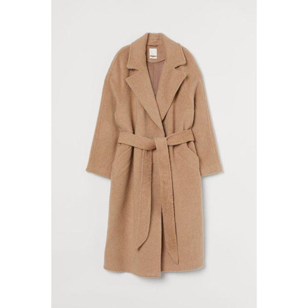 H & M - Mantel aus Wollmix - Beige - Damen