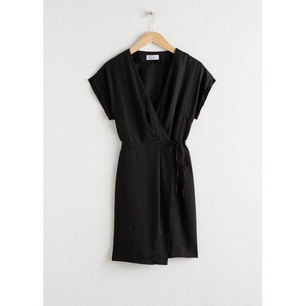 Sleeveless Wrap Dress - Black