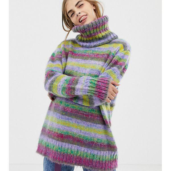 COLLUSION - Space-Dye-Pullover mit Rollkragen - Mehrfarbig