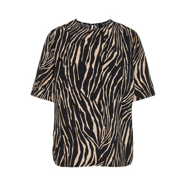 Y.A.S T-Shirt hellbeige / schwarz