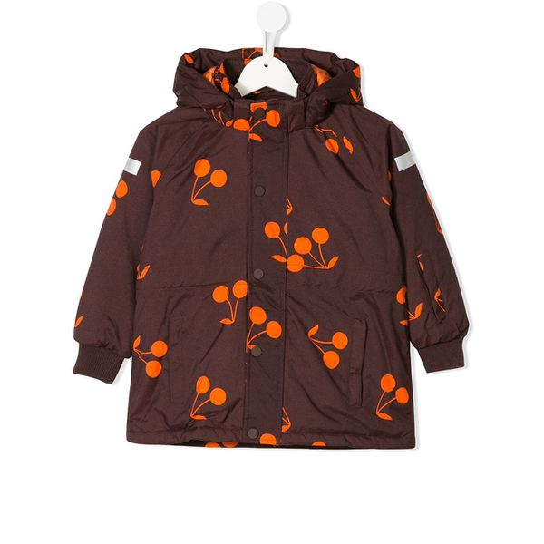 Tiny Cottons cherry print hooded jacket - Rot