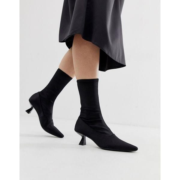 Vagabond - Lissie - Spitze, elastische Ankle-Boots - Schwarz