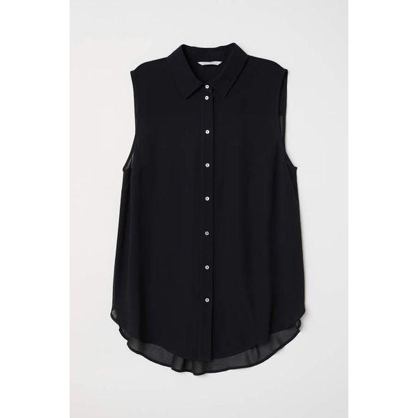 H & M - Ärmellose Bluse - Schwarz - Damen