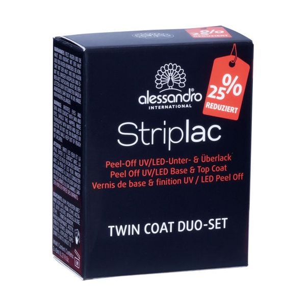Alessandro Striplac Duo Set Twin Coat, Nagelgel im Doppelpack
