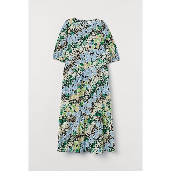H & M - Kleid mit Puffärmeln - Schwarz - Damen