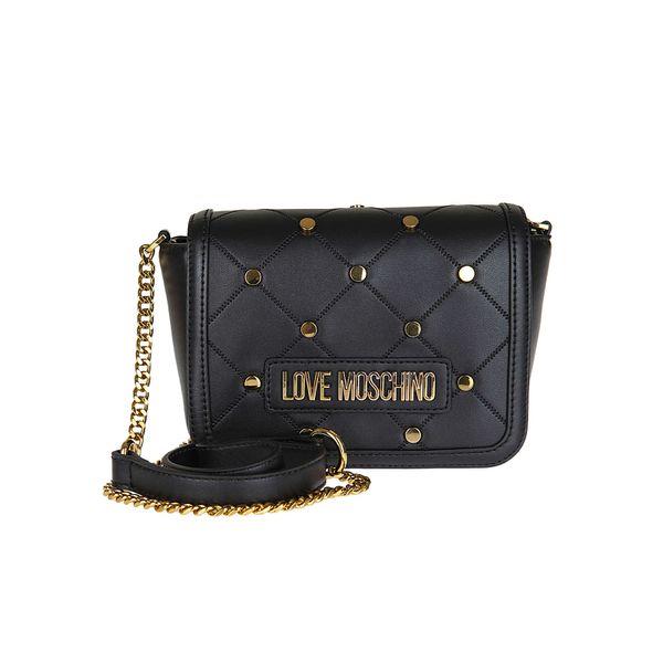 LOVE MOSCHINO Crossbody Bag mit Karo-Muster Umhängetaschen schwarz Damen