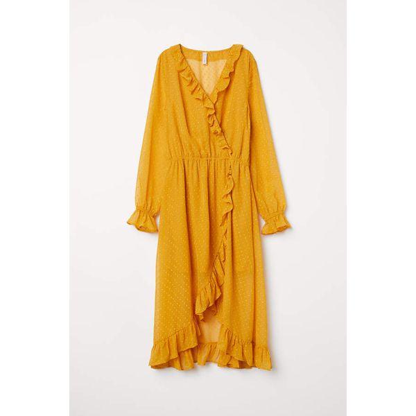 H & M - Wadenlanges Kleid - Senfgelb - Damen