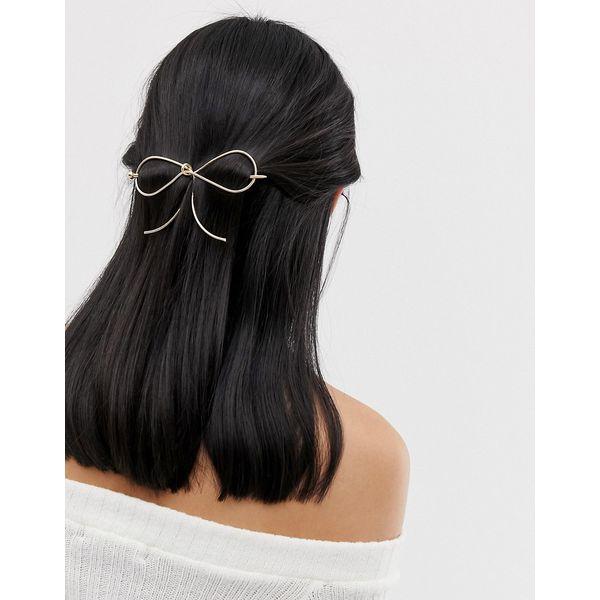 ASOS - Haarsteg mit Schleife - Gold
