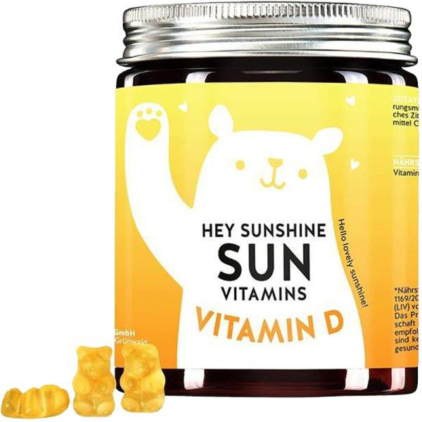Bears With Benefits Hey Sunshine Sun Vitamins Vitamin D 60 Stk. Nahrungsergänzungsmittel