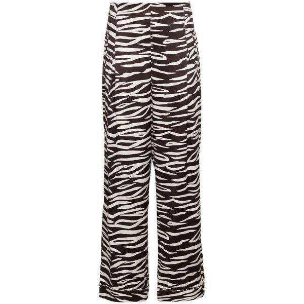 Ganni 'Blakey' Hose mit Zebra-Print - Schwarz