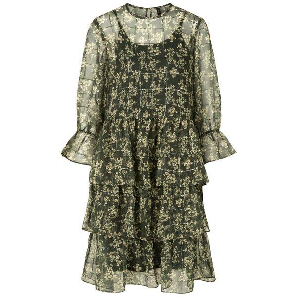 Y.A.S Minikleid grün / silber