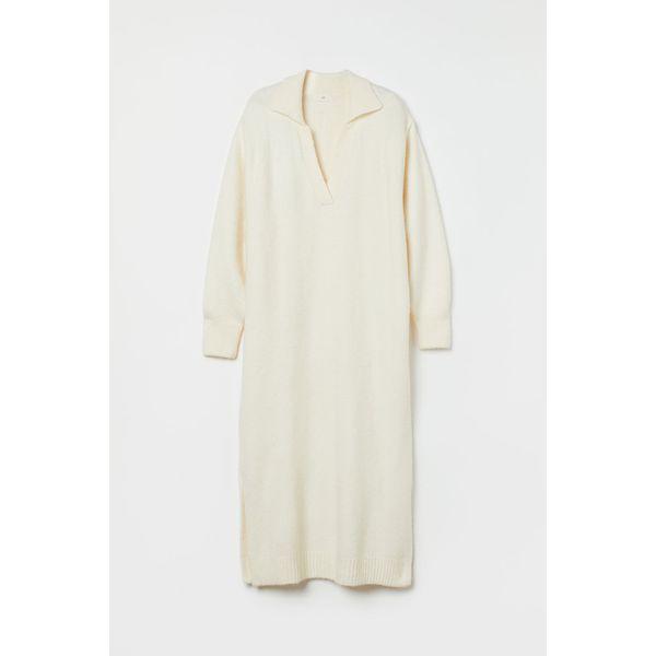 H & M - Strickkleid - Weiß - Damen