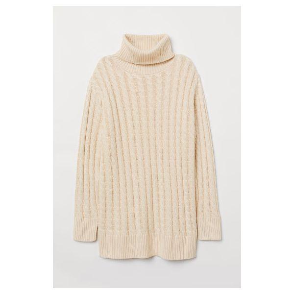H & M - Pullover mit Zopfmuster - Beige - Damen