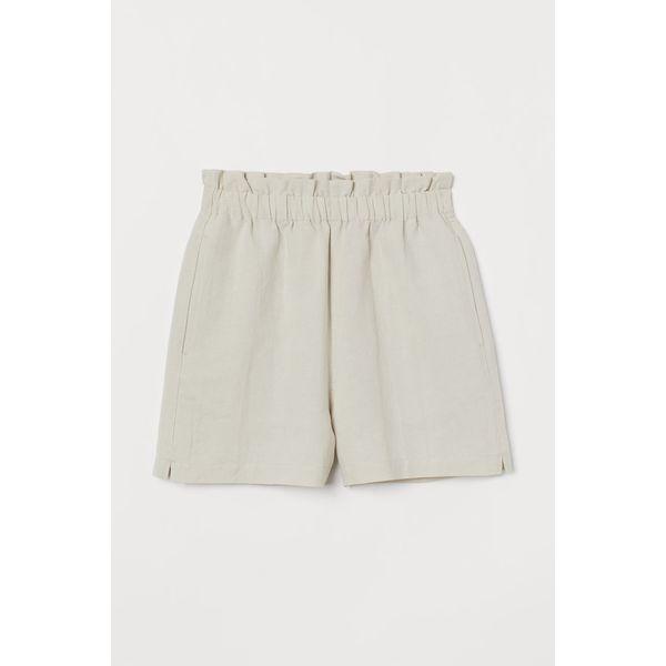 H & M - Shorts aus Leinenmischung - Beige - Damen
