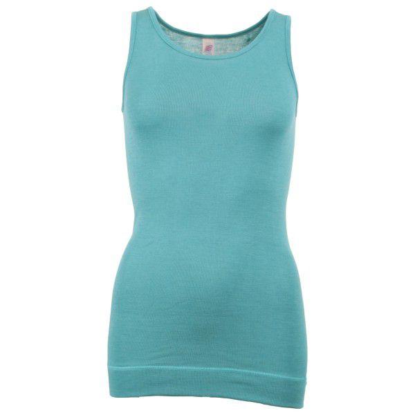 Engel - Women's Ärmellos Long-Shirt - Seidenunterwäsche Gr 46 / 48 türkis