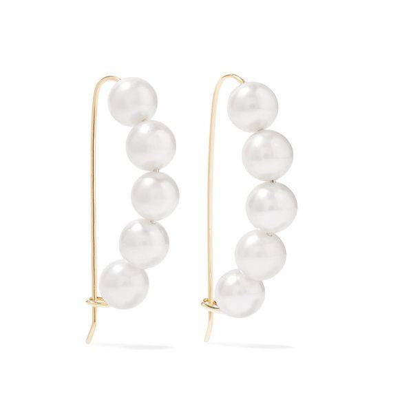 Mizuki - Ohrringe Aus 14 Karat Gold Mit Perlen - one size