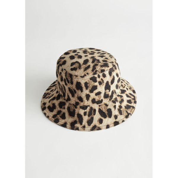 Leopard Jacquard Bucket Hat - Brown
