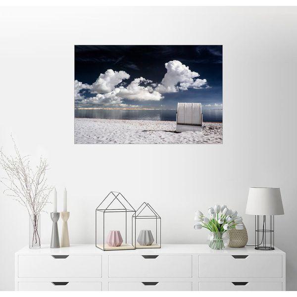Posterlounge Wandbild - Airde.net »Strandkorb an der Ostsee in Infrarot«