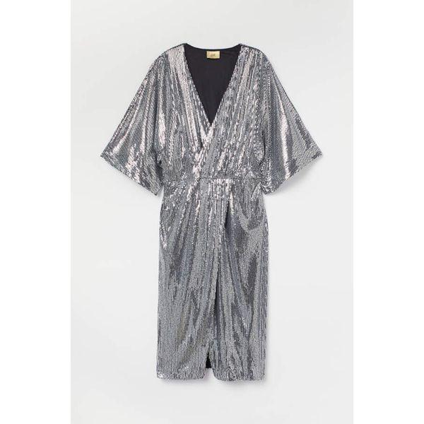 H & M - Paillettenkleid - Silberfarben - Damen
