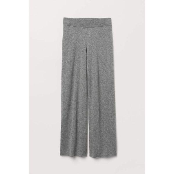 H & M - Weite Kaschmirhose - Graumeliert - Damen