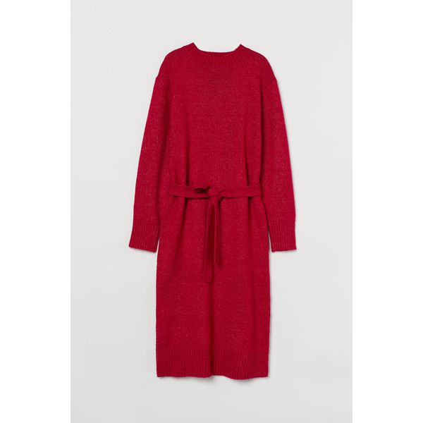 H & M - Strickkleid - Rot - Damen