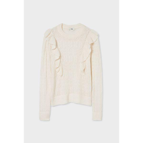 C&A; Pullover-recycelt, Weiß, Größe: S