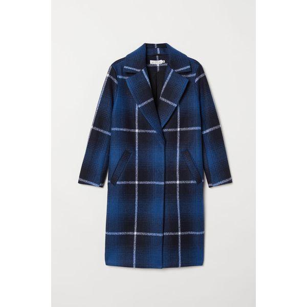 H & M - Gefilzter Mantel - Blue - Damen